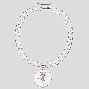 cute-skeleton-ballerina. Charm Bracelet, One Charm