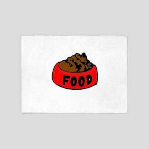 Dog Food 5'x7'Area Rug