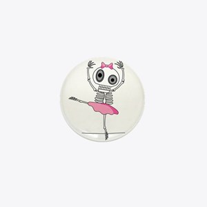 cute-skeleton-ballerina.png Mini Button