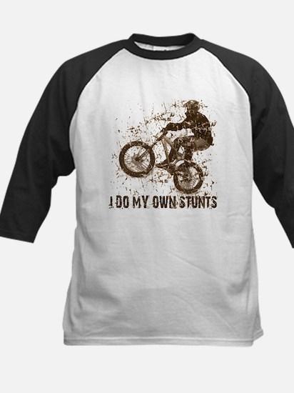 Mountain Bike, BMX - Stunts Kids Baseball Jersey