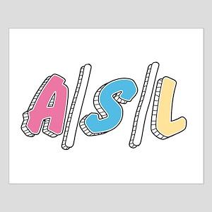 Cute A/S/L Internet Poster Design