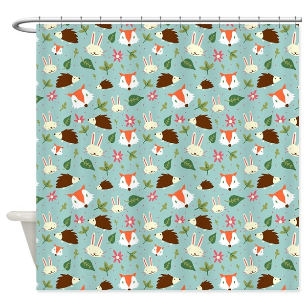Forest Animals Pattern Shower Curtain By Admin CP7046391