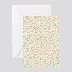Fall Leaves Pattern Greeting Cards