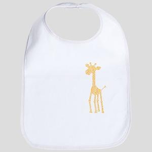 orange giraffe Bib