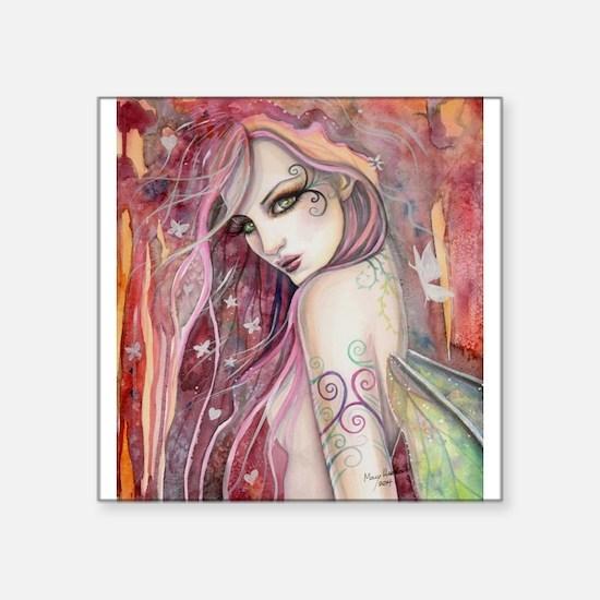 The Shy Flirt Fairy Art Sticker