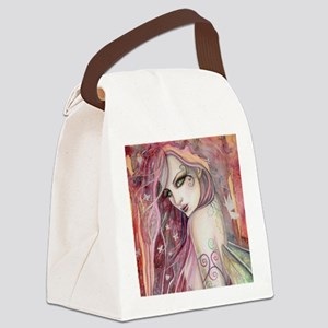 The Shy Flirt Fairy Art Canvas Lunch Bag