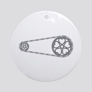 Bicycle Gears Ornament (Round)
