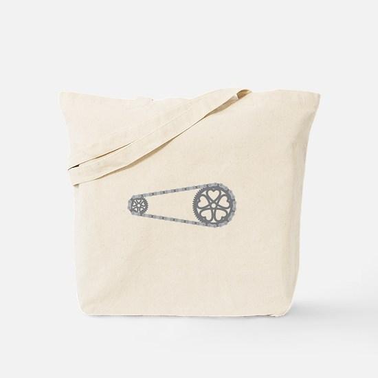 Bicycle Gears Tote Bag