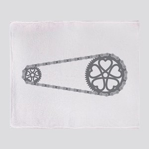 Bicycle Gears Throw Blanket