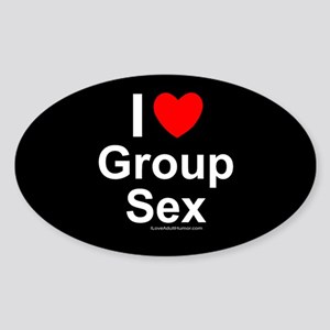 Group Sex Sticker (Oval)