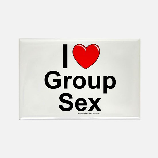 Group Sex Rectangle Magnet