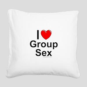 Group Sex Square Canvas Pillow