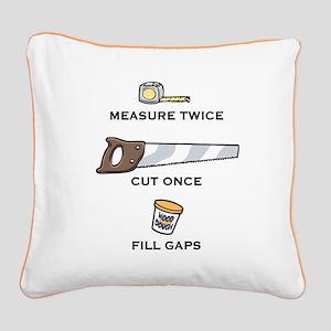 measure-putty-LTT Square Canvas Pillow
