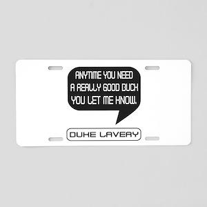 Duke Lavery Good Buck Aluminum License Plate