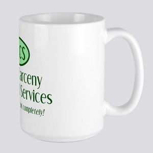 Grand Larceny Custodial Large Mug