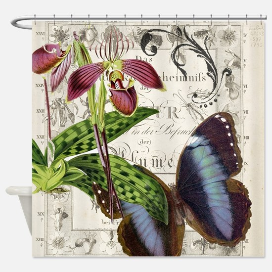 Funny Butterfly Shower Curtain