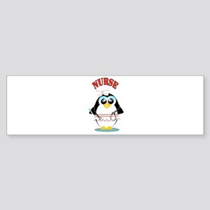 Nurse Penguin Bumper Sticker