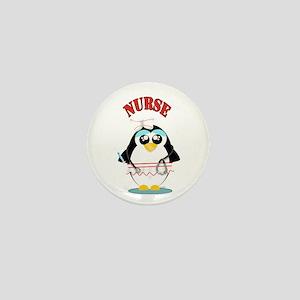Nurse Penguin Mini Button