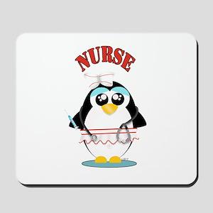 Nurse Penguin Mousepad
