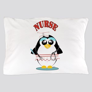 Nurse Penguin Pillow Case