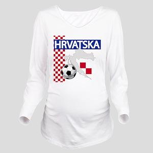 Hrvatska Croatia Fut Long Sleeve Maternity T-Shirt