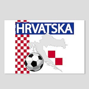 Hrvatska Croatia Futbol Postcards (Package of 8)