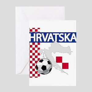 Hrvatska Croatia Futbol Greeting Cards