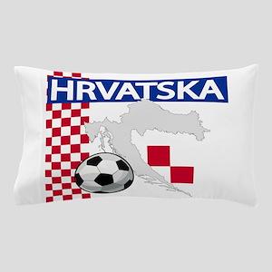 Hrvatska Croatia Futbol Pillow Case