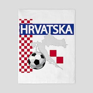 Hrvatska Croatia Futbol Twin Duvet