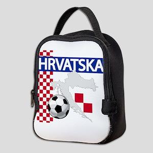 Hrvatska Croatia Futbol Neoprene Lunch Bag