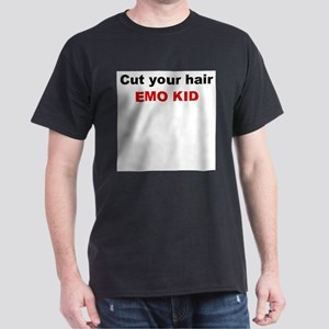 Emo kid cut your hair Dark T-Shirt