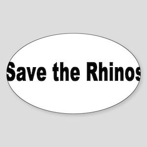 rhino2 Sticker (Oval)