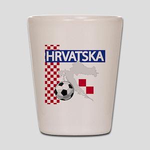 Hrvatska Croatia Futbol Shot Glass