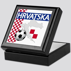 Hrvatska Croatia Futbol Keepsake Box