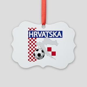Hrvatska Croatia Futbol Picture Ornament