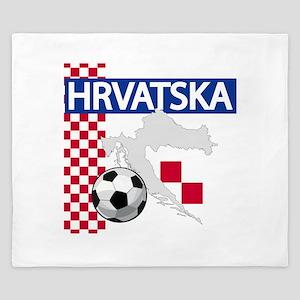 Hrvatska Croatia Futbol King Duvet