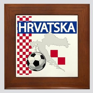 Hrvatska Croatia Futbol Framed Tile