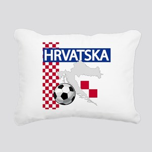 Hrvatska Croatia Futbol Rectangular Canvas Pillow