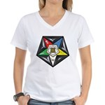OES Star on a pillow Women's V-Neck T-Shirt
