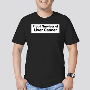 liver4 Men's Fitted T-Shirt (dark)