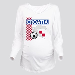 croatia-futballC Long Sleeve Maternity T-Shirt