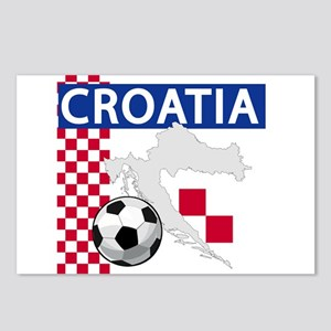 croatia-futballC.png Postcards (Package of 8)