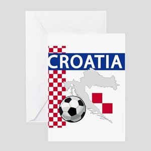 croatia-futballC Greeting Cards