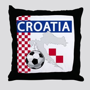 croatia-futballC Throw Pillow