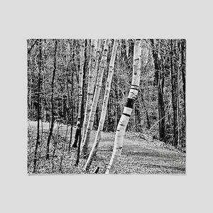 Birch Sentinels Throw Blanket