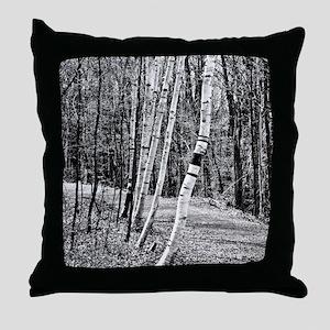 Birch Sentinels Throw Pillow