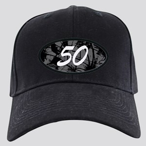 Grunge 50th Birthday Black Cap
