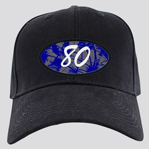 Grunge 80th Birthday Black Cap