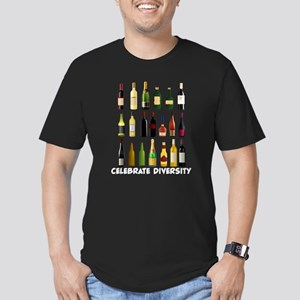 Celebrate Diversity Men's Fitted T-Shirt (dark)