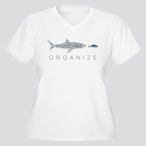Organize Fish Plus Size T-Shirt